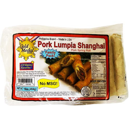 Gold Medal - Pork Lumpia Shanghai - Pork Spring Roll - Family Pack - 16 OZ