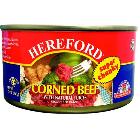 Hereford - Super Chunky - Corned Beef with Natural Juices - 12 OZ