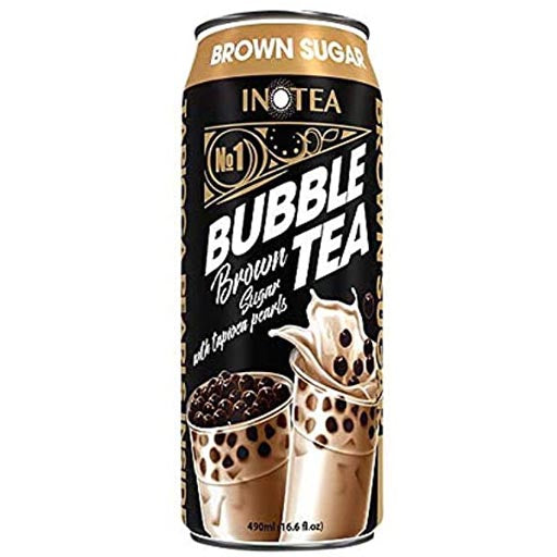 Inotea - Bubble Tea Brown Sugar with Tapioca Pearls - 16.6 FL OZ