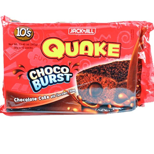 Jack 'n Jill - Quake - Choco Burst - Chocolate Cake with Chocolate Filling - 10 Pack