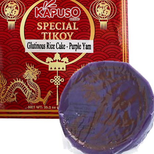 Kapuso - Special Tikoy - Glutinous Rice Cake - Purple Yam (UBE) - 35.2 OZ