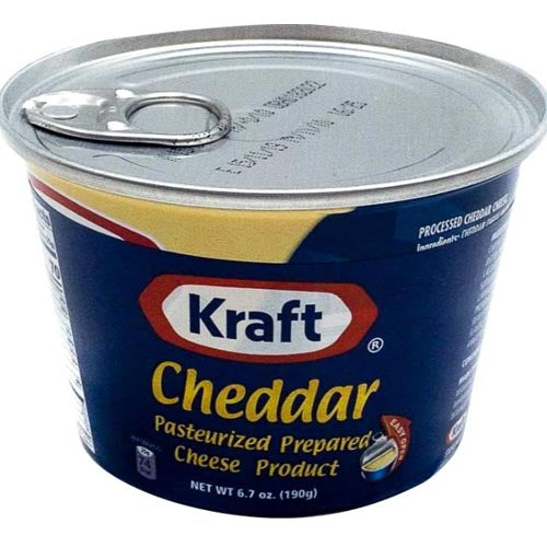 Kraft - Cheddar Pasteurized Prepared Cheese Product (Canned) - Easy Open - 190 G