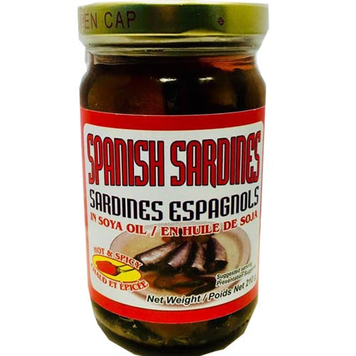 Leony's - Spanish Sardines in Soya Oil - Hot and Spicy - 8 OZ