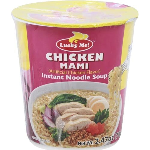 Lucky Me - Chicken Mami - Artificial Chicken Flavor - Instant Noodle Soup - 70 G