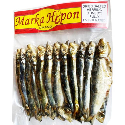 Marka Hipon - Dried Salted Herring (Tunsoy) Fully Eviscerated - 7.05 OZ