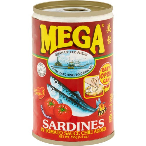 Mega Sardines in Tomato Sauce Chili Added (RED) -155 G