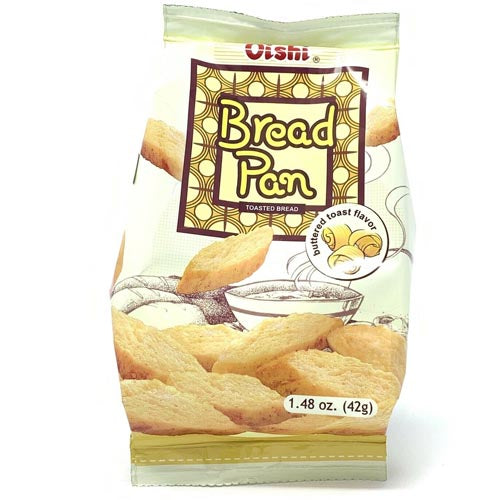 Oishi - Bread Pan Toasted Bread - Buttered Toast Flavor - 42 G