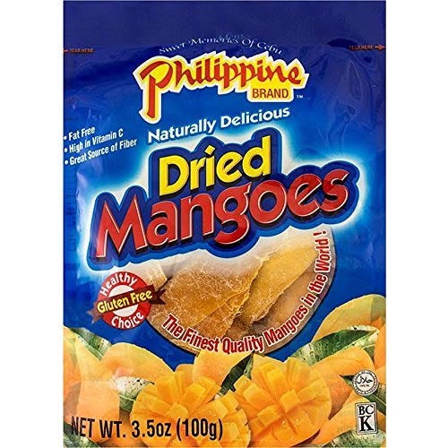 Philippine Brand - Naturally Delicious Dried Mangoes - Gluten Free - 100 G