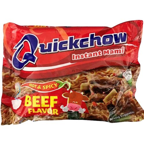 Quick Chow - Instant Mami - Hot & Spicy - Beef Flavor - 55 G
