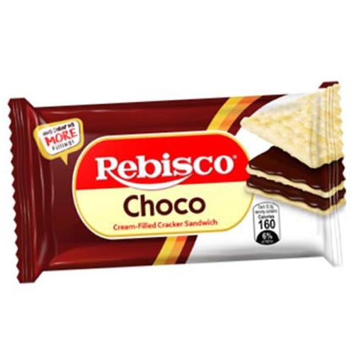 Rebisco - Choco - Cream Filled Cracker Sandwich - 10 Pack