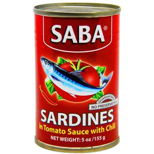 SABA - Sardines in Tomato Sauce with Chili (RED) - 155 G