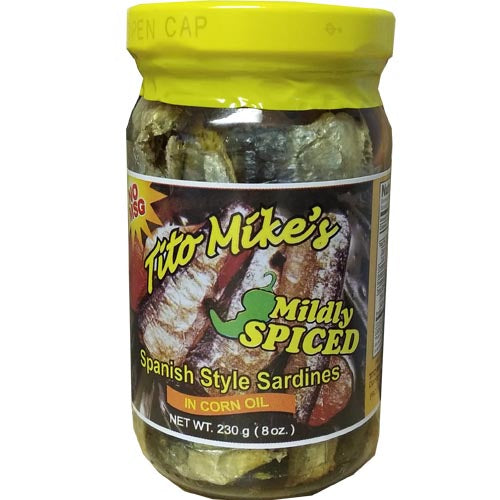 Tito Mike's - Spanish Style Sardines in Corn Oil (Mildy Spiced) - 8 OZ