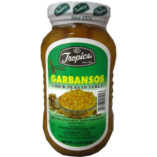 Tropics - Garbansos - Chick Peas in Syrup - 12 OZ