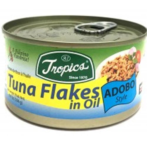Tropics - Tuna Flakes in Soybean Oil - Adobo - 184 G