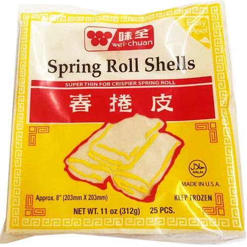 Wei-Chuan - Spring Roll Shells - Super Thin for Crispier Spring Roll - 25 Pieces - 11 OZ