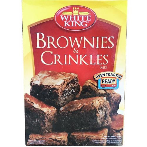 White King - Brownies and Crinkles Mix - Oven Roasted Ready - 500 G