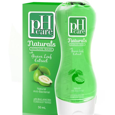 pH Care - Naturals - Intimate Wash - with Guava Leaf Extract -  Natural AntiBacterial - 150 ML
