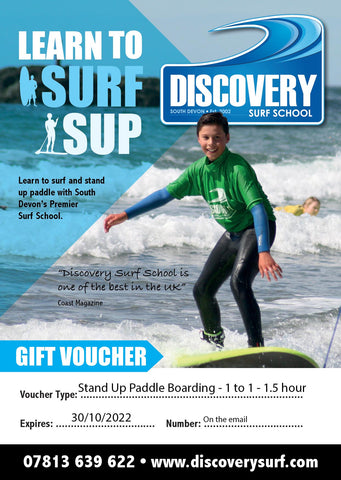 SUP lesson gift voucher