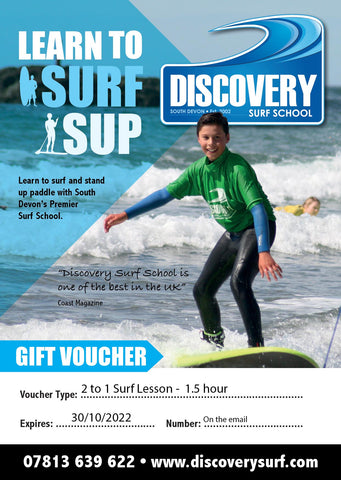 Surf lesson gift voucher