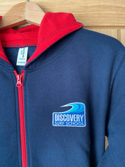Discovery Kids Zip Hoody - Navy/Red