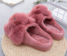 Load image into Gallery viewer, Cute Cozy Women Plush Warm Bunny Slippers