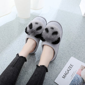 Panda Women Slippers Cute Plush Cartoon Slippers
