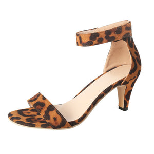 Women's stiletto Leopard High Heels Sandals