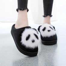 Load image into Gallery viewer, Panda Women Slippers Cute Plush Cartoon Slippers