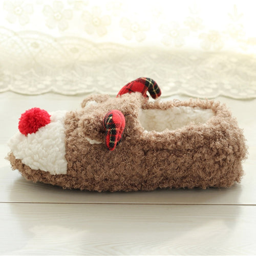 Reindeer Slippers Women Indoor Winter Cute Warm & Plush