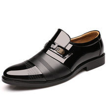 Load image into Gallery viewer, Slip-on Pointed Toe Patent Leather Oxford Shoes
