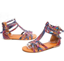 Load image into Gallery viewer, Women's Gladiator Sandals Flat Roman Sandal Flip Flops Sandals