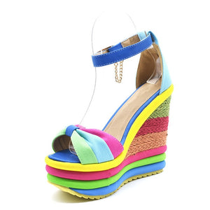 Summer Sexy Bohemian Peep Toe Wedges