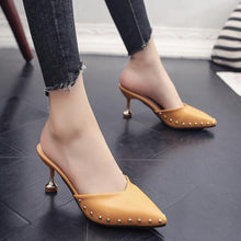 Load image into Gallery viewer, Pointed Rivets High Heels
