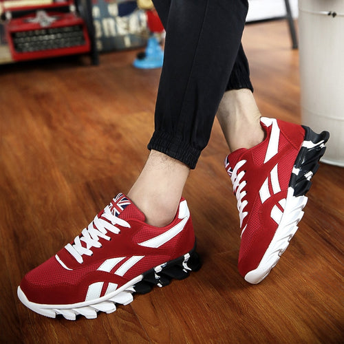 Comfortable Men's Breathable Lace Up Running Shoes