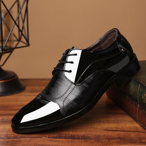 Mens Black Oxford Leather Formal Shoes