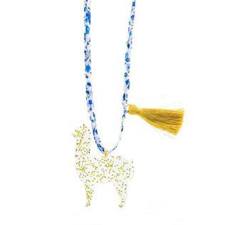 goldie the alpaca (LIBERTY OF LONDON) necklace // little lux
