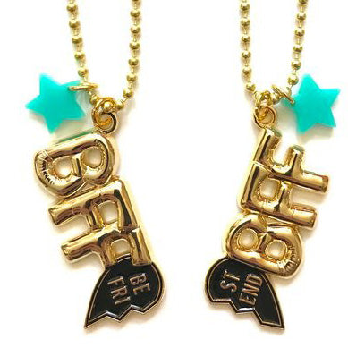 BFF (best friends forever) necklace 2 PACK // little lux