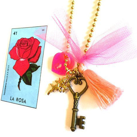 """key to my heart"" valentines necklace // little lux"