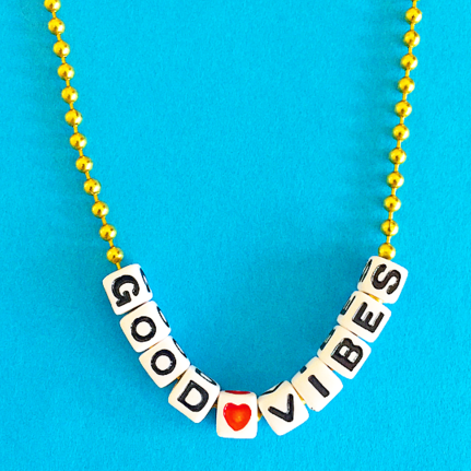 good vibes necklace // little lux