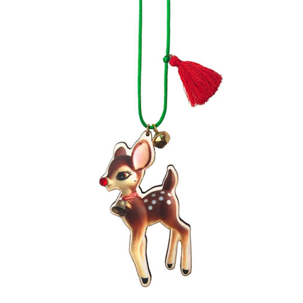 holiday fawn necklace // little lux