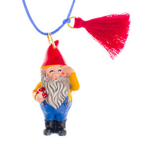 gordy the gnome necklace // little lux