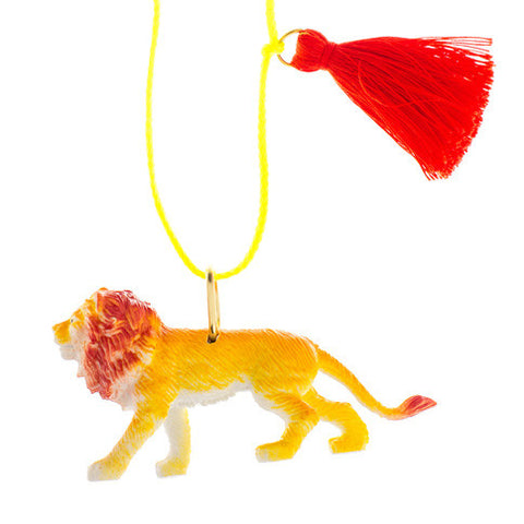 lenny the lion necklace // little lux
