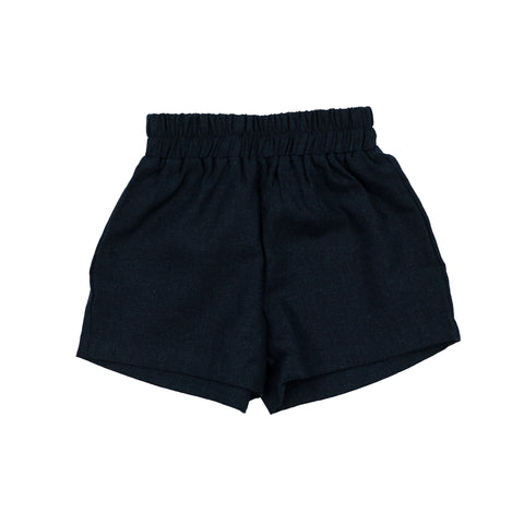 james woven short // navy linen