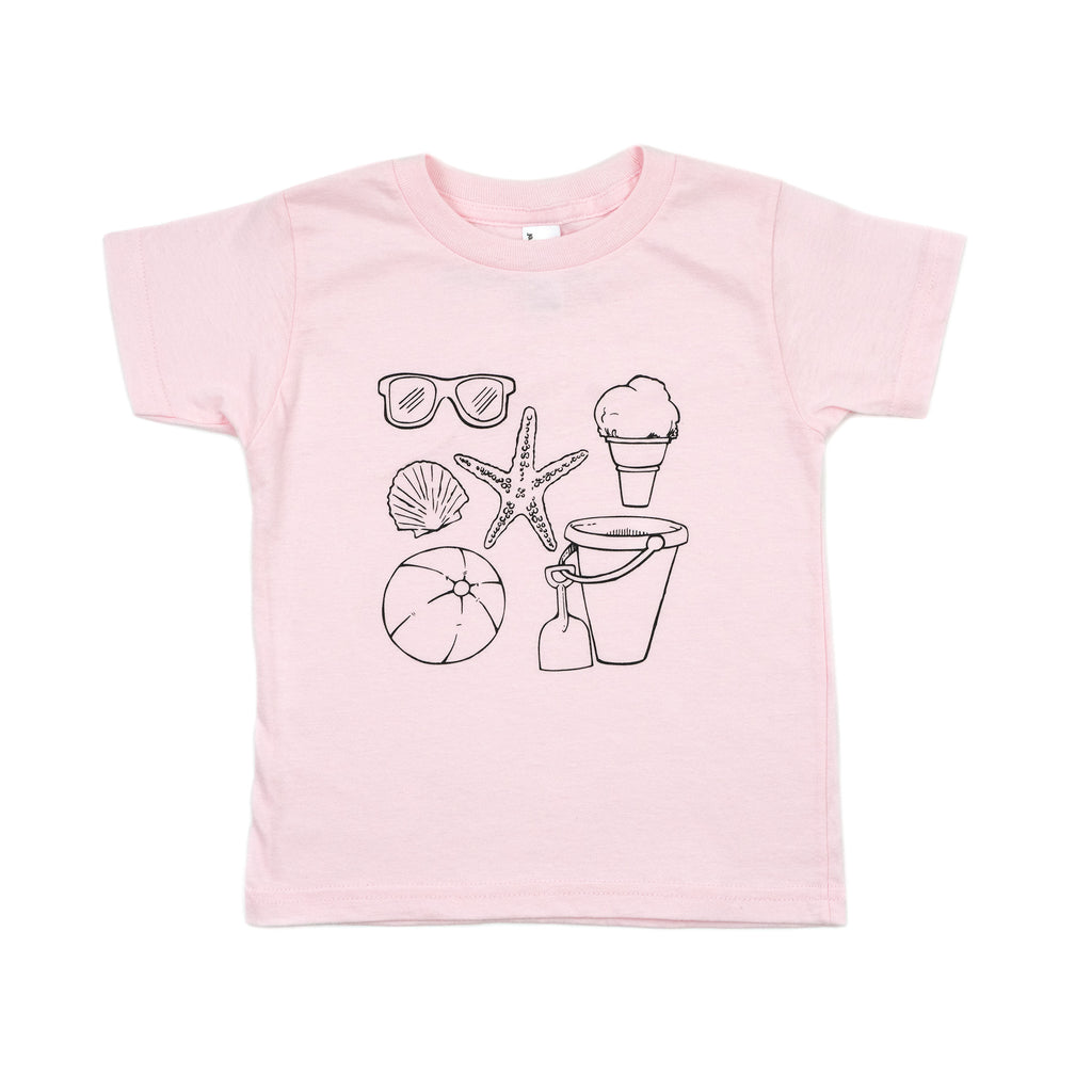 beach tee // light pink