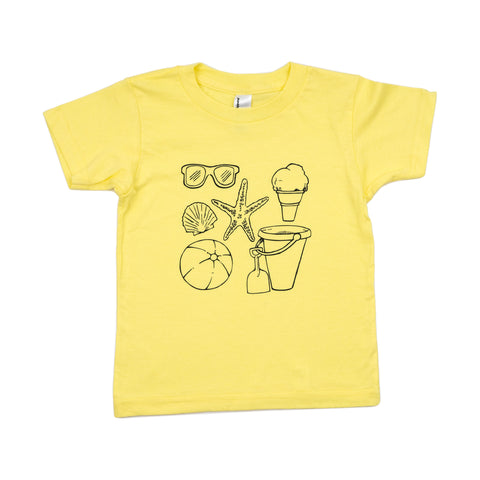 beach tee // yellow