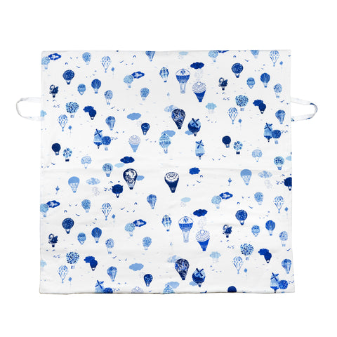 Canvas Play Mat // Blue Hot Air Balloons