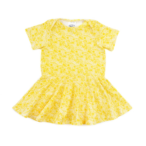 jane baby dress // yellow floral