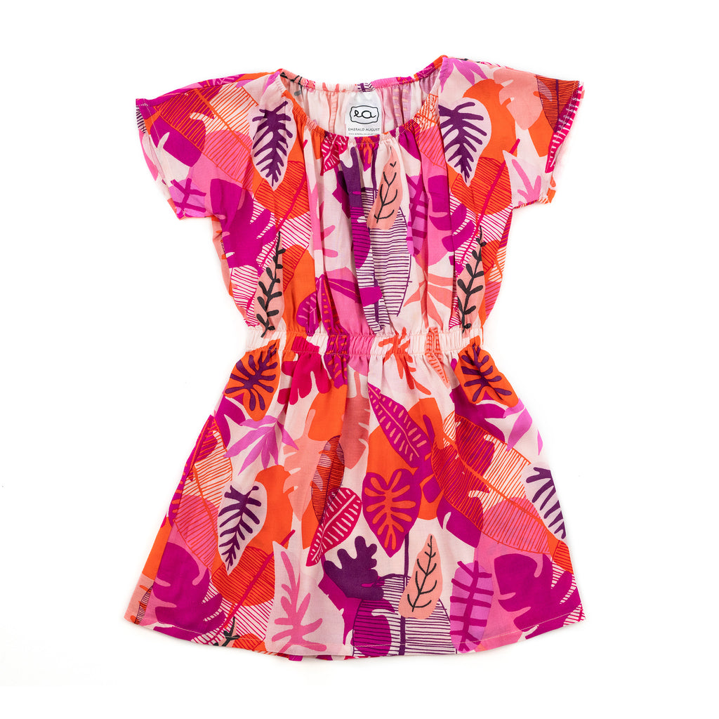 lesley woven dress // tropical rose