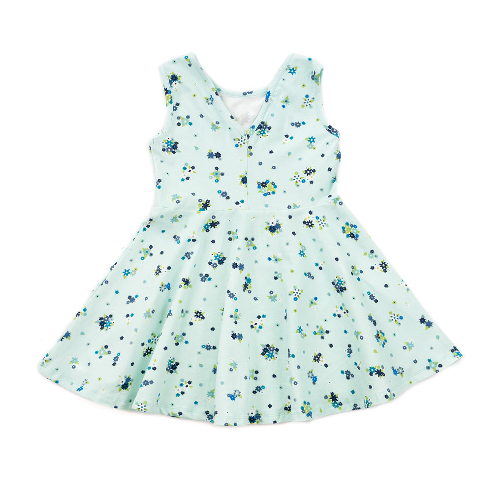 elizabeth dress // blue flower