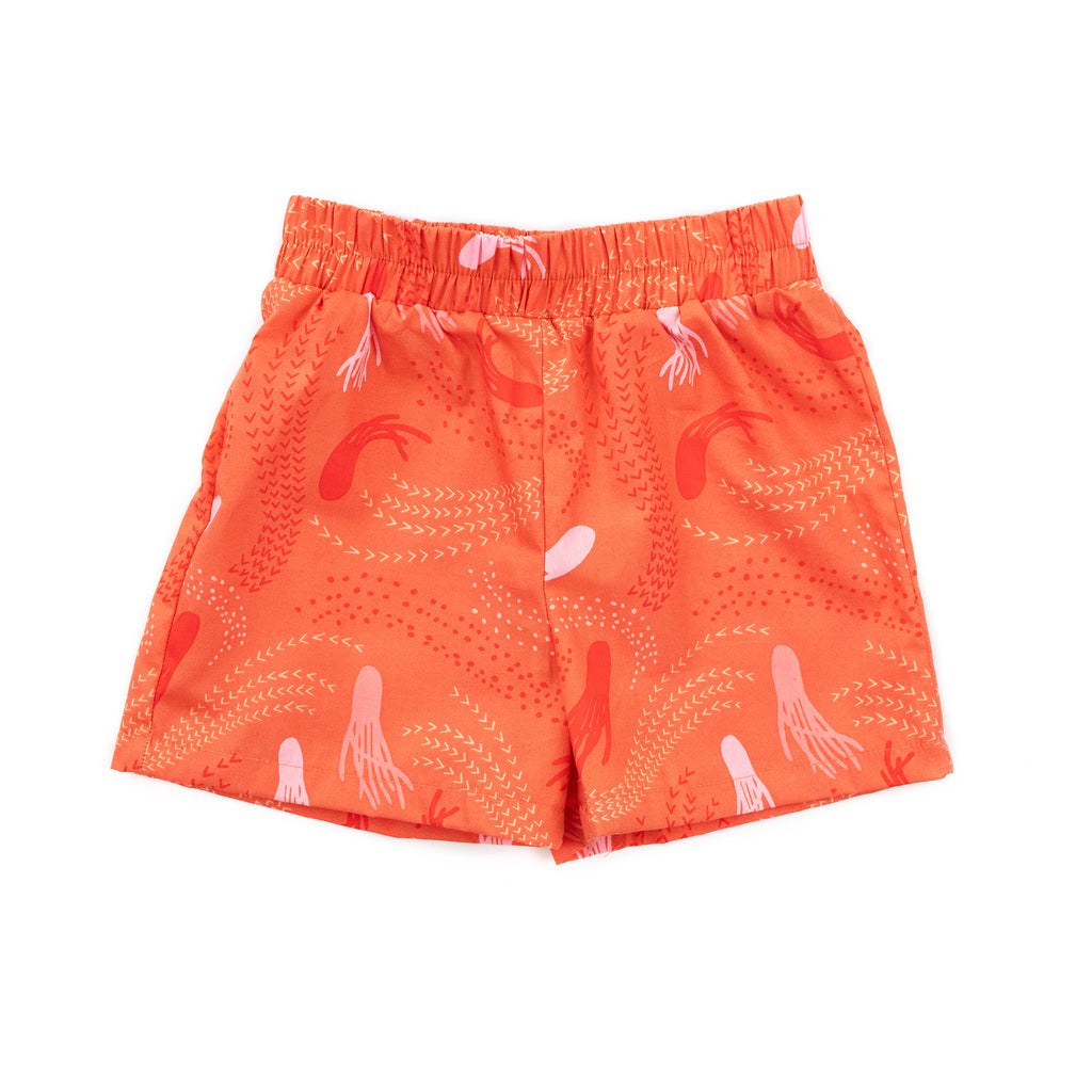 molly woven short // orange jellyfish